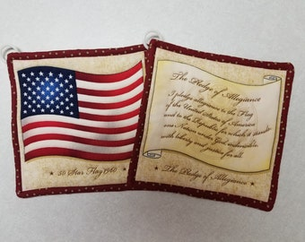 Patriotic Potholders (set of 2)