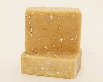 Natural Goat's Milk Soap - Oats, Lavender & Honey