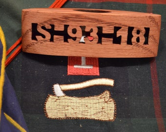 Neckerchief Slide or Woggle  with Wood Badge Course Number For Scouts