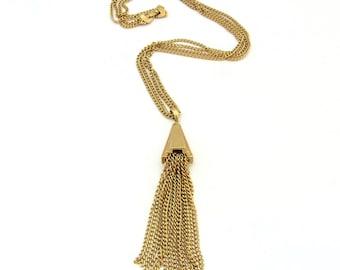 Monet Necklace | Gold Tassel Necklace | Fringe Necklace | Boho Necklace Tassel | Dangle Necklace | Long Tassel Necklace | Tassel Pendant