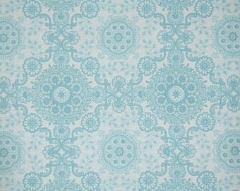 Retro Wallpaper by the Yard 70s Vintage Wallpaper - 1970s Blue and White Geometric