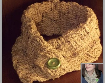 Basketweave Cowl Crochet Pattern with Basketweave Scarf Guidelines ... Instant Download