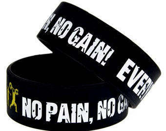 No Pain No Gain Silicone Wristband