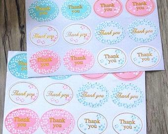 Thank you Label stickers / 120 pcs
