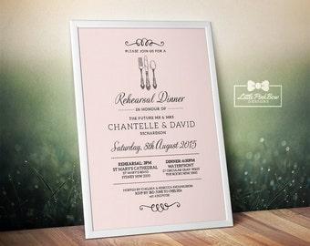 Wedding Rehearsal Dinner Invitation Printable, Rehearsal Dinner Invitation Printable, Wedding Rehearsal Printable, Dinner Party Printable