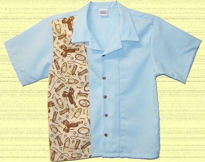 Kids Bowling Shirts - Free Shipping - Vintage Buckaroo Western Print