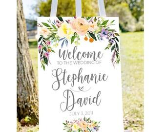 printable wedding welcome, Wedding welcome sign, welcome to our wedding sign, wedding sign, large wedding sign, large welcome sign PRINTABLE