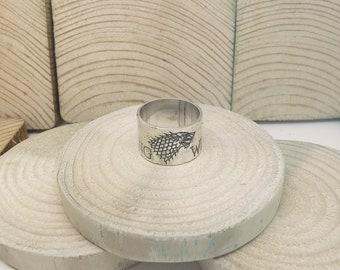 House Stark sterling silver ring