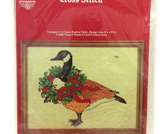 Counted Cross Stitch - Christmas Goose - Designs by Gloria & Pat