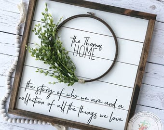 Shiplap Sign Personalized, Shiplap Wreath sign, Framed Shiplap Sign, Fixer Upper Sign, Farmhouse Sign, Farmhouse Decor, Home Sign