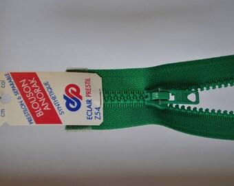 Emerald Green Z54 721 mesh zipper 25cm separable plastic molded