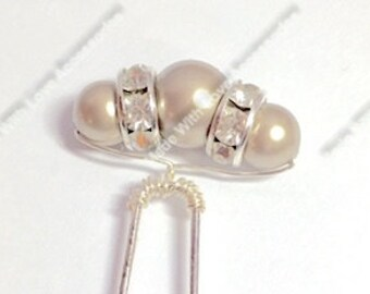 Champagne Hair Pins - Pink Pearl Bobby Pins - Bridal Hair Accessories - Bridesmaids Hair Accessories - Wedding Accessories - Prom Hair