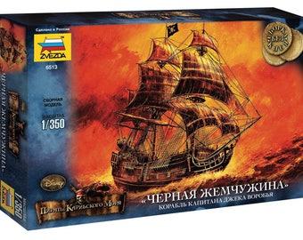 1/350 Black Pearl -- Jack Sparrow ship Pirates of the Caribbean Model Kit ZVEZDA