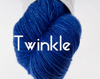 Twinkle Yarn (Silver Sparkle)  in your choice of colors