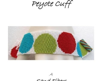 3 for 2 Program - Colorful Polka Dots Peyote Cuff - For Personal Use Only PDF Pattern
