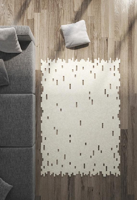 Area Rug Carpet Modern Rug Minimalist Wool Felt Rug