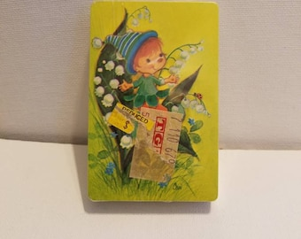 Vintage Pixie Lily Trump Playing Cards-Sealed
