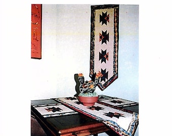 Phoenix--Southwest Quilt Pattern for Table Runner, Placemats, and Wallhanging (Paper Version)