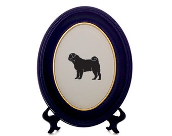 Pug Dog Bespoke Framed Paper Cut-Out Silhouette - Custom Design Available