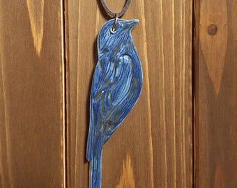 Ceramic Bird Pendant - Porcelain