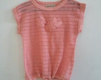 vintage mesh top