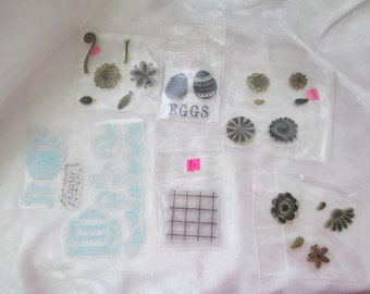Stampology Clear Rubber Stamps Set Of 6, Studio G, And  Stampology, Lot 5