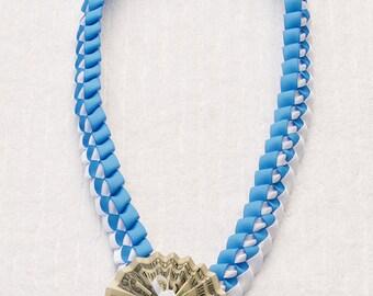 Graduation Money Lei - Baby Blue White