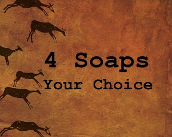 MENS BODY SOAP - 4 Pack Handcrafted Quality - Your Choice of Scents by Man Cave Soapworks