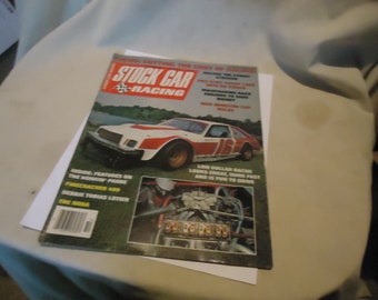 Vintage October 1980 Stock Car Racing Magazine Volume 15 Number 10, collectable