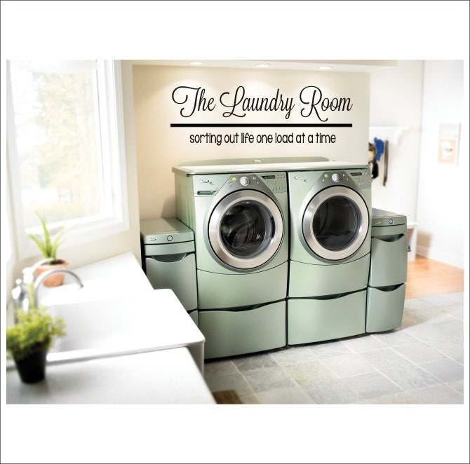 The Laundry Room Vinyl Wall Decal Large Decor