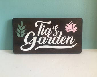Custom Garden Sign | Wood Sign | Garden Decor | Birthday Gift |  Holiday Gift