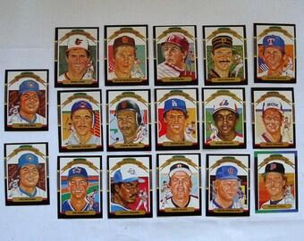 "These 17 (ex or  better cond)  MAJOR League Baseball cards. All Donruss 1986 ""DIAMOND KING"" Cards.  see description"