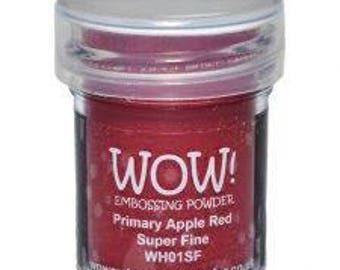 Wow! Embossing Powder Super Fine 15ml - Primary Apple Red