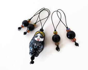stitch markers / matryoshka doll / russian nesting doll / knitting gift / row counter tool / snag free stitchmarkers / popular knitter gift