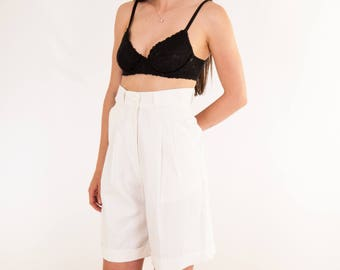 Vintage Pleated Shorts with Tags