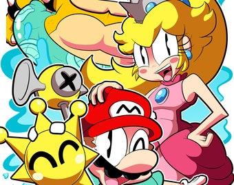 Super Mario Sunshine 11x17 Print - SHINE!