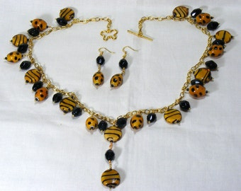 Spots and Stripes Jewellery Set