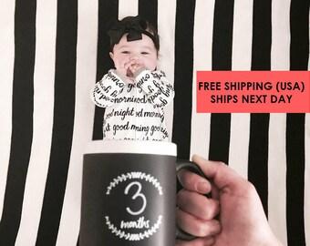 Baby Milestone Mug / baby in a mug  / Monthly Growth  /  newborn / baby shower gift / milestone / age tracker /memory mug