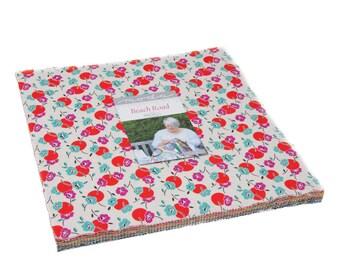Beach Road Layer Cake by Jen Kingwell for Moda Fabrics, 42 pieces 10x10 inch squares--18132LC Moda Precuts