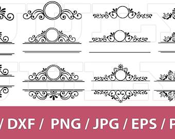 70 % off, Mailbox Monogram Frame SVG, Flourish svg, Swirl svg, dxf, eps, png, jpg, pdf, Ornament Clip Art, Monogram Frame, Mailbox Decal