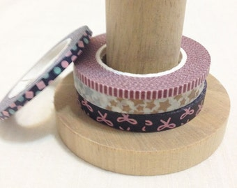 Masking Washi Tape. chic christmas 4 kinds. 3~6 mm wide and 15M long.
