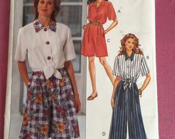 Butterick 6795 Fast & Easy misses' pattern shirt shorts pants sewing craft ncut