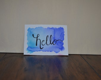 Any occasion, hello greeting card