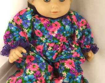 Colorful Flowers Romper fits Bitty Twin Girl