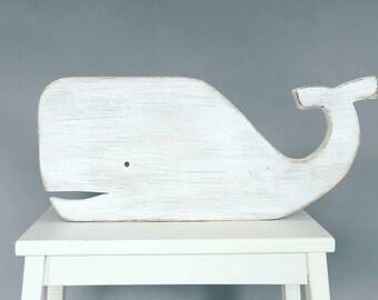 Whale Sign - Whale Decor, Nautical Decor, Whale Wall Art, Ocean Decor, Beach Decor