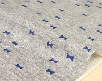 Japanese Fabric Kokka Blue Blue Ribbons double gauze - grey, blue - 50cm