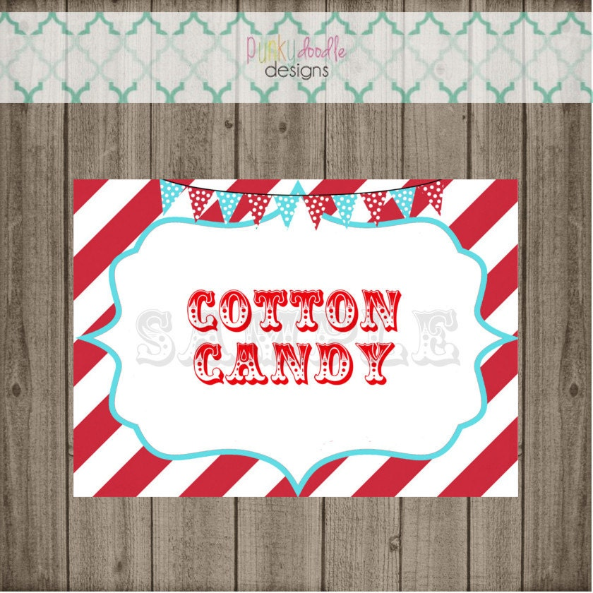 Custom Carnival Party Signs Circus Party Signs Circus Signs