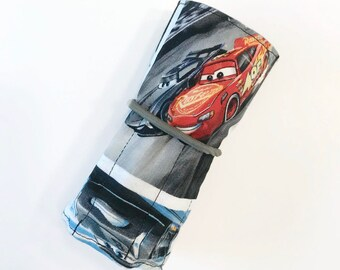 Race Cars Crayon Roll