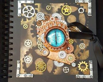 Steampunk Dragon Eye Journal/Scrap Book