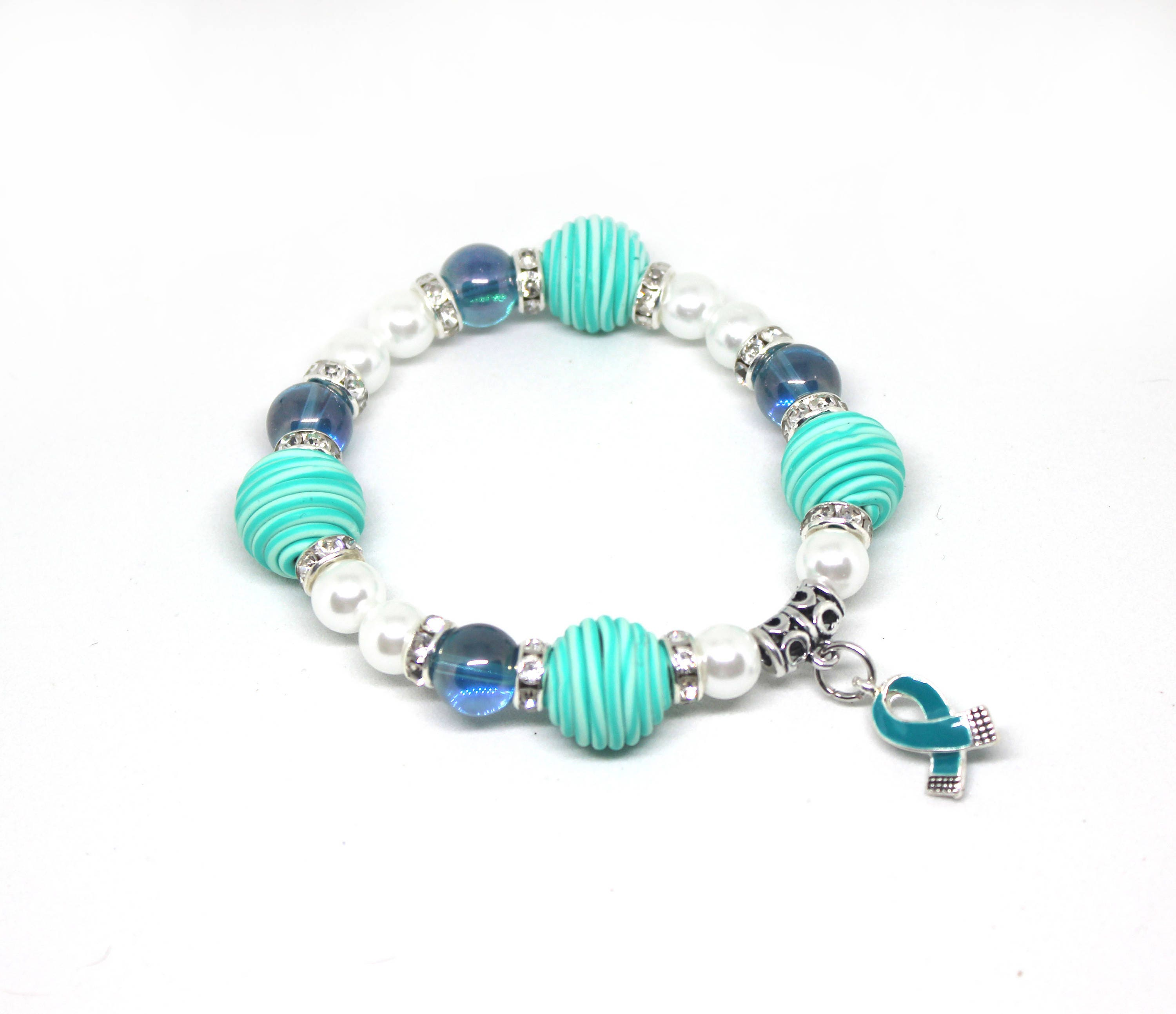 bracelet including batten ocd awareness disease silver teal pin agoraphobia disorder cancers and cervical types anxiety